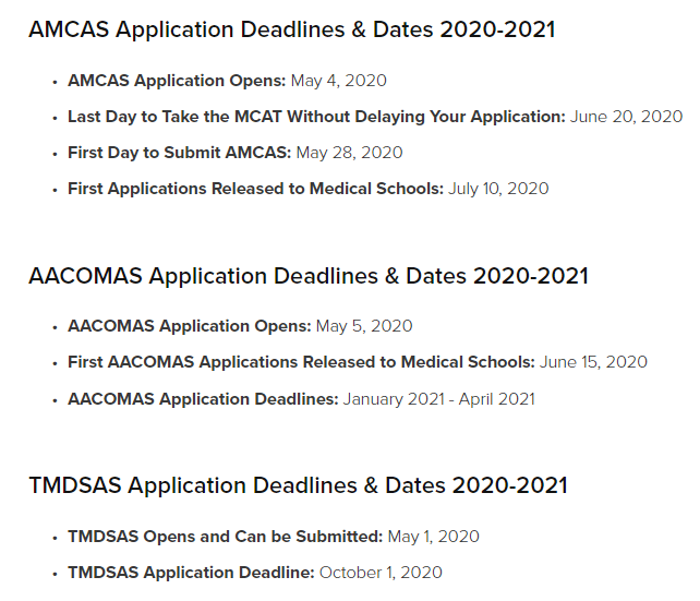 When is it too late to apply to medical school?